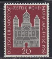 West Germany 1956 Maria Laach Abbey, MNH (**) Michel 238 - BRD