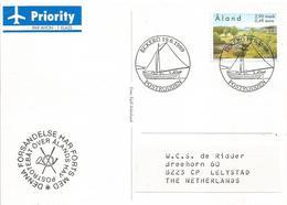 Aland 1999 Eckerö Landscape Environment EUROPA Sailing Ship Viewcard - Aland