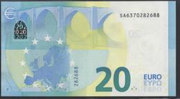 """EURO 20  ITALIA SA S019  """"37""""  DRAGHI  UNC - EURO"""