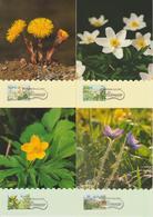 Aland 1997 Carte Maximum Fleurs 123-126 4 Cartes - Aland