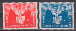 Deutsch-Polnische Freundschaft Oder-Neisse-Friedensgrenze, Boleslaw Bierut W. Pieck, DDR 284/85 **, Friedentaube - [6] République Démocratique