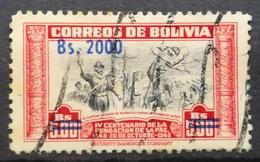 1957 BOLIVIA 400 Anniversary Of The Founding Of La Paz Overprint - Bolivia