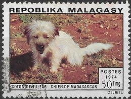 MADAGASCAR 1974 Malagasy Dogs - 50f Coton FU - Madagascar (1960-...)