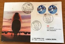 TAP=FIRST FLIGHT=Primeiro Voo Boeing 747-B=LISBON/BEIRA=PORTUGAL-MOZAMBIQUE=5/6/1973=AEROPORTO=LISBOA=Pela Crianca - Mozambique