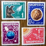 Space Raumfahrt, 1962 Albanien, Michel 663-666, Postfrisch**: Laika, Sputnik, Lunik - Espace