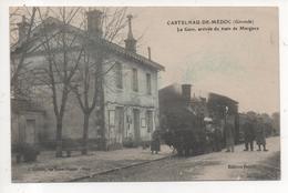 33.1134/ CASTELNAU DE MEDOC - La Gare Arrivée Du Train De Margaux - France