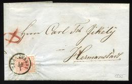 SZÁSZVÁROS 1855. Szép (HP)  3 Kr-os Levél, Tartalommal Nagyszebenbe Küldve        ## - Gebraucht