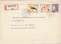 N0265 - Czechoslovakia (1962) Ostrava 81 (R-letter); Tariff: 1,60 Kcs (stamp: Birds) - Climbing Birds