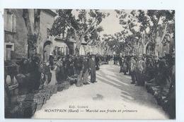 Cpa - Dpt  - Gard  - Montfrin    - Marche Aux Fruits Et Primeurs     - Animation -  (  Selection  ) Tres -    Rare  1925 - France