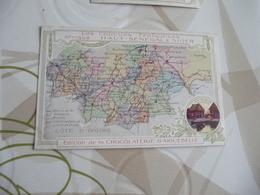 Chromo Géographique édition De La Chocolaterie D'Aiguebelle  Haut Sénégal Niger - Aiguebelle