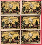 Allemagne 6 Notgeld Stadt Lüneburger/Helde (Série) Lot N °43 - [ 3] 1918-1933 : République De Weimar