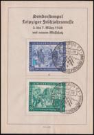 Gedenkblatt Leipziger Messe Frühjahrsmesse MM 1948, SoSt., Dv. M111-Z6296, Mi. 967/68, Zollschranken - American,British And Russian Zone