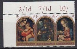 Gibraltar 1969 Christmas Strip 3v (corner) ** Mnh (41507G) - Gibraltar