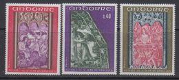 Andorra Fr. 1970 Frescoes 3v  ** Mnh (41507E - Frans-Andorra