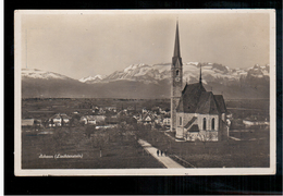 LIECHTENSTEIN Schaan Kirche Ca 1930 OLD PHOTO POSTCARD 2 Scans - Liechtenstein