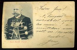 BUDAPEST 1901. Báró Bánnfy Dezső, Főispán, Képviselőházi Elnök, Régi Képeslap  (halvány Törés) - Hungría