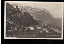 LIECHTENSTEIN Vaduz Ca 1930 OLD PHOTO POSTCARD 2 Scans - Liechtenstein
