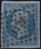 1853 Napoléon III N°14g Type I Bleu /lilas Oblitéré PC 1172 De Elbeuf Superbe !! Signé Calves - 1853-1860 Napoleon III