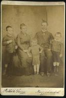 NAGYVÁRAD 1890. Cca. Pollák Soma : Ismeretlen Család, Régi Cabinet Fotó        ## - Photos