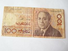 A Vendre Billet Du Maroc  De 100 Dirhams.  Petit Prix De Départ - Maroc