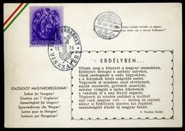 DUNASZERDAHELY 1938. Visszatérés , Irredenta Levelezőlap     ## - Ungarn