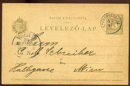 SZEPESVÁRALJA 1902. Régi Díjjegyes Lap, Szép Bélyegzéssel - Hongrie