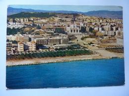 """Cartolina Viaggiata  """"CAGLIARI Hotel Mediterraneo  E Basilica Di N.S. Di Bonaria"""" 1980 - Cagliari"""