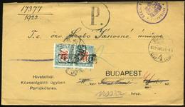BUDAPEST 1922. Érdekes, Régi Retúr Boríték 2*200f  Portózással - Ungheria