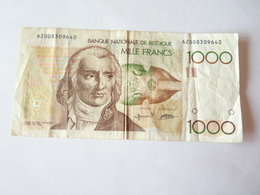 A Vendre Billet Belge De 1000 Francs . Rare à Ce Prix De Départ - 1000 Francs