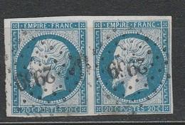 OBLI Cher 2969 St-Amand-Mont-Rond  Sur Paire 14A TBE - 1853-1860 Napoleon III