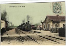 1 Cpa Dordives - Train En Gare - Dordives