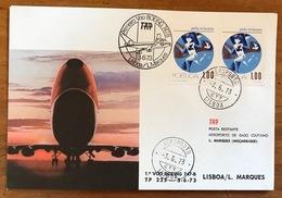 TAP=FIRST FLIGHT=Primeiro Voo Boeing 747-B=LISBON/L. MARQUES=PORTUGAL-MOZAMBIQUE=3/6/1973=AEROPORTO=LISBOA=Pela Crianca - Mozambique