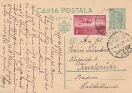 Roumanie Entier Postal Pour L'Allemagne 1936 - Entiers Postaux