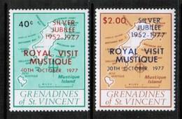 ST.VINCENT GRENADINES  Scott # 127-8** VF MINT NH (Stamp Scan #436) - St.Vincent & Grenadines