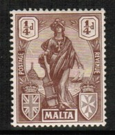 MALTA  Scott # 98* VF MINT HINGED (Stamp Scan #436) - Malte