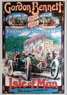 Car Automobile Postcard Isle Of Man Gordon Bennett 1904 1905 - Reproduction - Publicité