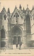 CPA 37 Indre Et Loire Tours Portail De L'Eglise Notre Dame La Riche Précurseur Non Circulée - Tours