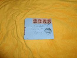 ENVELOPPE UNIQUEMENT DE 1938. / DEPART EGYPTE CACHET SUEZ ?..POUR PARIS. CACHETS + BANDE 4 TIMBRES - Lettres & Documents