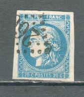 "FRANCE ; Cérès "" Bordeaux"" ; 1870 ; Maury N°46 II Type III ; Oblitéré - 1870 Bordeaux Printing"