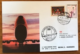 TAP=FIRST FLIGHT=Primeiro Voo Boeing 747-B=BEIRA/LOURENCO MARQUES=MOZAMBIQUE=6/6/1973=Internal Local Flight. - Mozambique