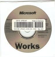 CD Microsoft Works 7.0 In English - Word Processing - OEM - CD