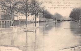 ¤¤   -   PARIS INONDE En 1910   -  Aspect Général Du Quai De Passy    -   ¤¤ - Arrondissement: 16