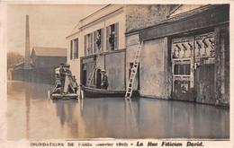 ¤¤   -   Inondation De PARIS En 1910   -   Carte-Photo   -   La Rue Félicien David   -   ¤¤ - Arrondissement: 16