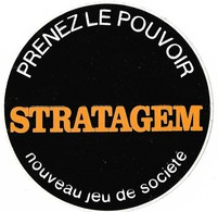 Autocollant - AIGLE - Prenez Le Pouvoir - STRATAGEM - Nouveau Jeu De Société - Diamètre : 9 Cm - - Stickers