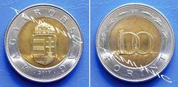 HUNGARY 100 Forint 2017 CROWNED ARMS - BIMETALIC - Hongrie