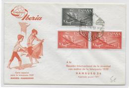 ESPAGNE - 1959 - ENVELOPPE Par AVION IBERIA De MADRID => HAMBURG - Briefe U. Dokumente