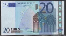 € 20  ITALIA S  J001  DUISENBERG  AUNC - 20 Euro