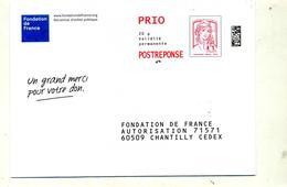 Pap Reponse Ciappa  Fondation De France - Entiers Postaux