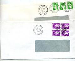 Lettre Cachet Saint Louis Sur Sabine - Postmark Collection (Covers)