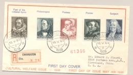 Nederland - 1938 - Zomerserie Op Sluis FDC Van Enkhuizen Naar Cleveland Ohio / USA - Brieven En Documenten